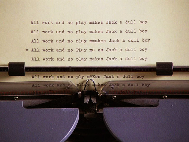 A review of the novel Jack Nicholson writes in The Shining