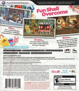 The back of the LBP planet box, with the slogan at the top.