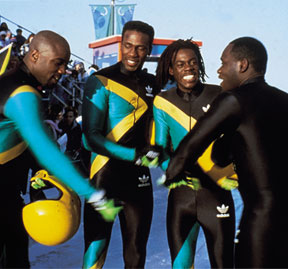 Jamaican Bobsleigh Team in Cool Runnings