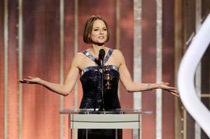 By 2033, I predict that Jodie Foster will win an Oscar and get gay married. Also, in 2033, she will still look like this.